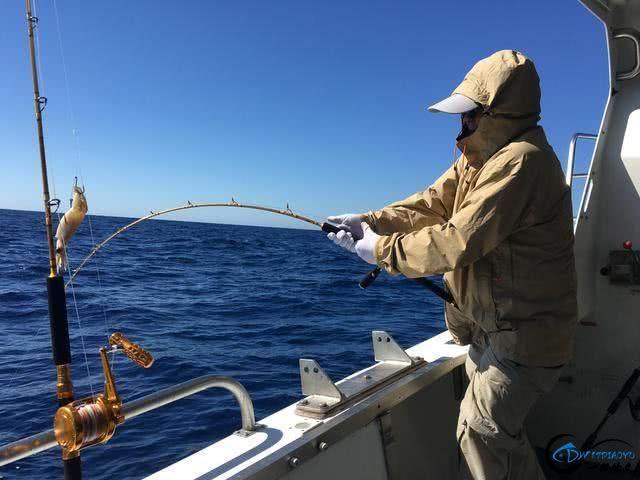 钓到大鱼兴奋的拉出水瞬间惊出一身冷汗,大鱼被吃的仅剩鱼头-1.jpg